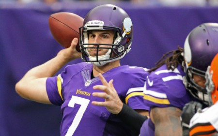 The Minnesota Vikings will once again be starting Christian Ponder at quarterback on Sunday.