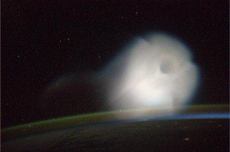 Cloud in space