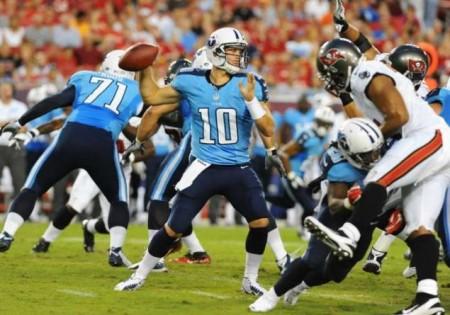 Jake Locker will start for the Titans against the 49ers on Sunday.