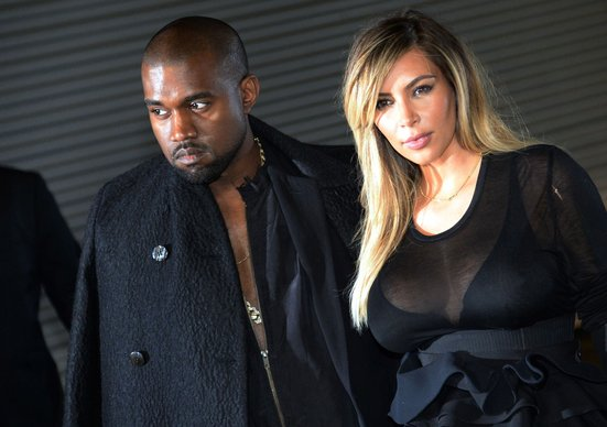 The happy couple, Kim Kardashian
