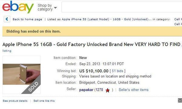 $10K for the iphone 5S Gold..really?