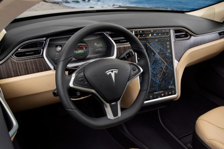 The interior of the Model S will be further innovated with Field at the wheel