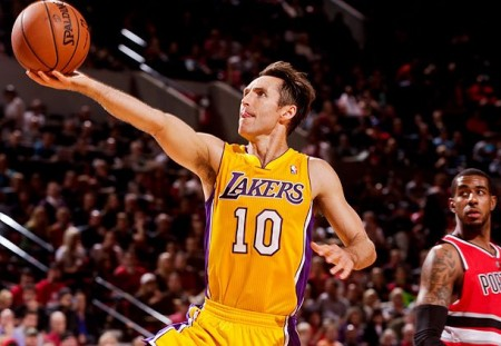 Steve Nash will be playing without Kobe tonight, but will still lead the Lakers over the Clippers in an opening night battle for Los Angeles.