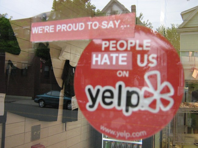 yelp window sign