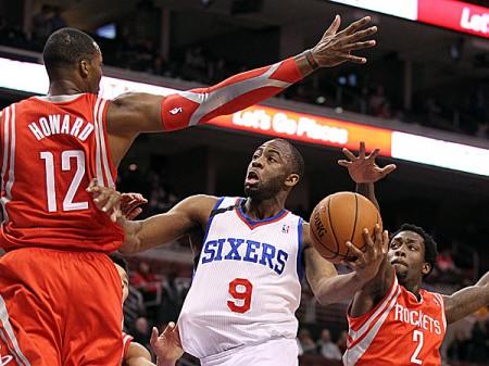 The Philadelphia 76ers shocked the Houston Rockets in overtime.