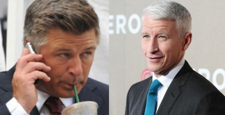 Alec Baldwin and Anderson Cooper