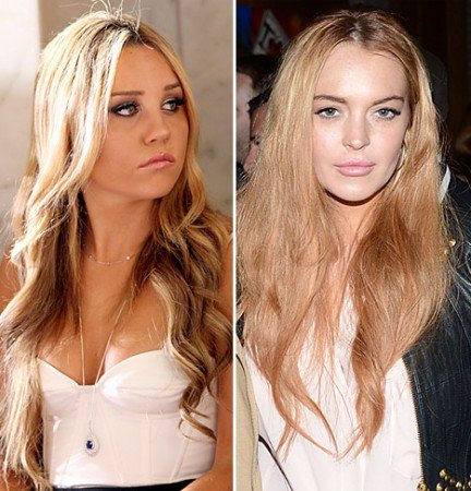 Amanda Bynes and Lindsay Lohan are suffering child celebs