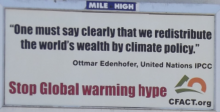 Global warming hype Billboard outside Coors Field