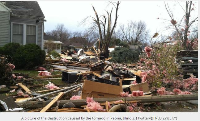 Damages from Tornado