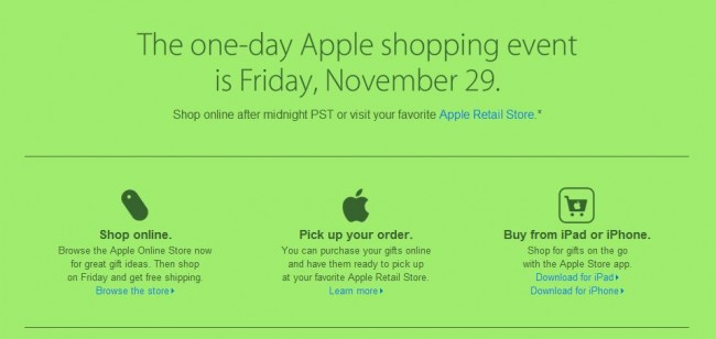Apple Inc. Black Friday Specials Include Major One Day Only Event!