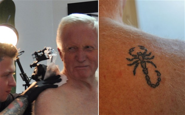 Too Old for a Tattoo? Man up Says Sir David