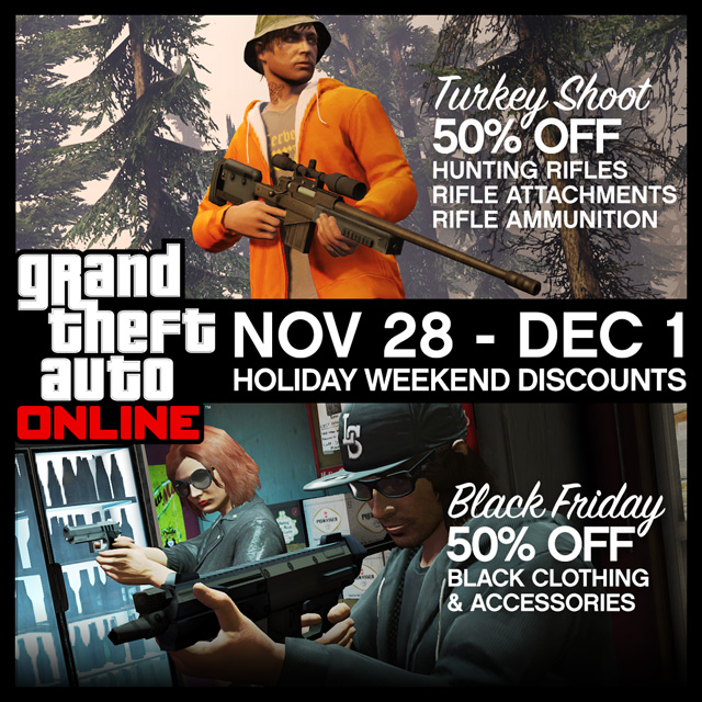 Rockstar offers a in-game sale this weekend
