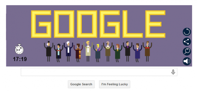 Doctor Who Whodle Google Doodle