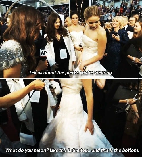 Jennifer Lawrence what are you wearing