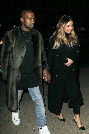 Kanye West and his fiance Kim Kardashian