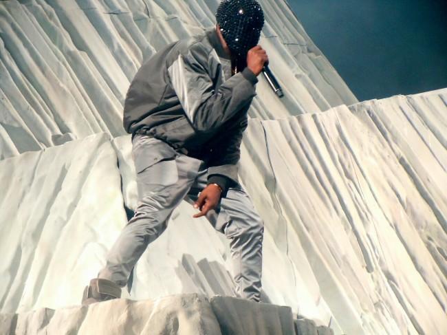 Kanye West at Yeezus Seattle tour on mountain