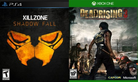 Killzone Shadow Fall versus Dead Rising 3 games