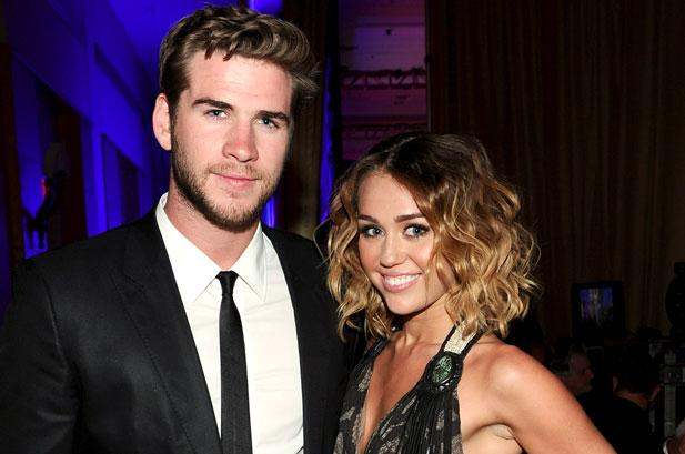 Liam Hemsworth and Miley Cyrus during happier times
