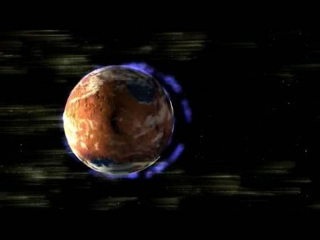 Loss of magnetic fields from Mars