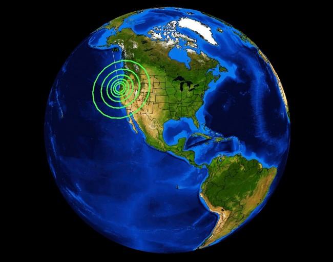 Earthquake off California-Oregon Coast