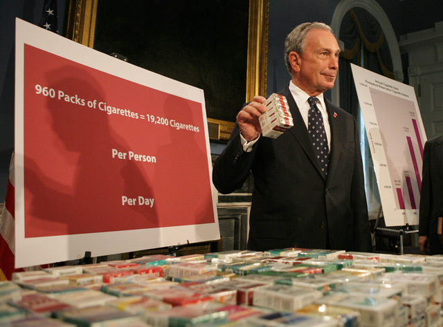 Mayor Bloomberg NYC tobacco laws