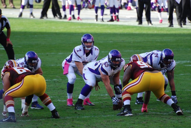 Vikings QB Ponder vs Redskins