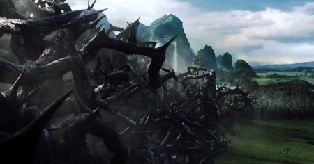 Thicket of thorny branches rises from ground in Maleficent trailer