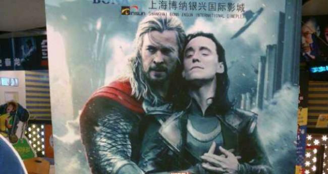 Thor and Loki embrace
