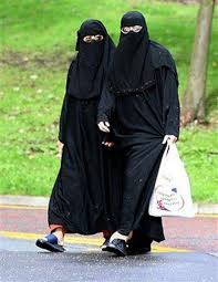 Al Qaeda, Women wearing burkas