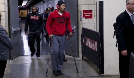 Bulls star Derrick Rose is once again out with a knee injury after tearing his meniscus.