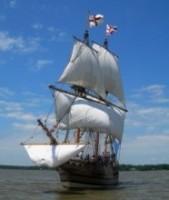Pocahontas and 1607 ship