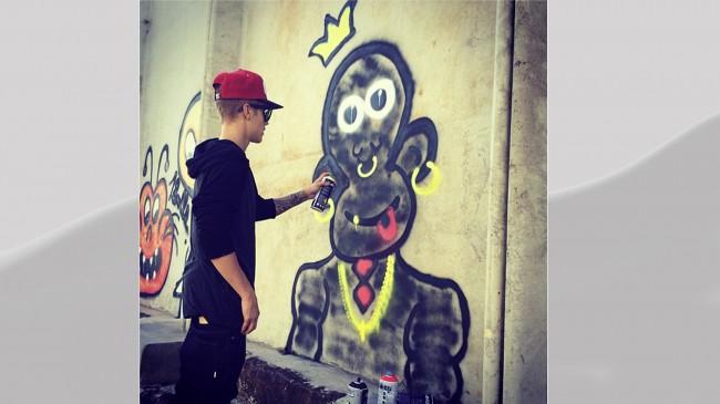 Justin Bieber, graffiti