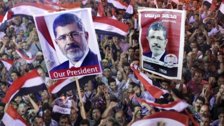 Supporters for Morsi Gather