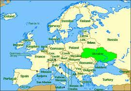 Ukraine in Europe map