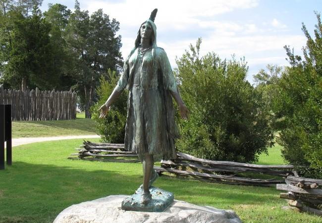 Pocahontas statue at Jamestown