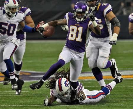 Minnesota Vikings receiver Jerome Simpson has been arrested for DWI.