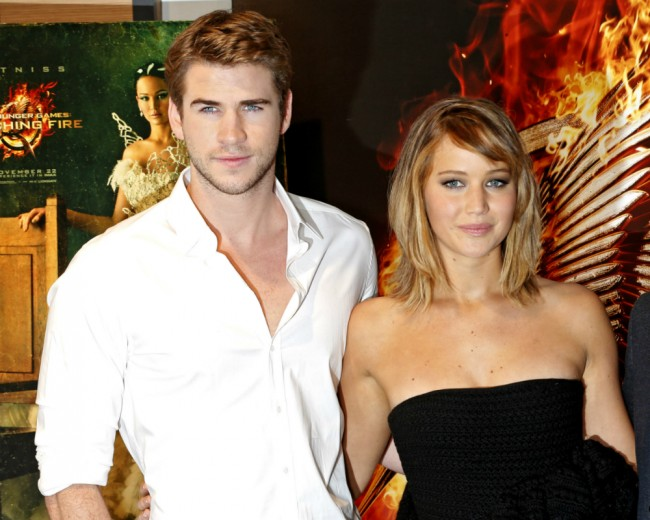 entertainment, liam hemsworth, jennifer lawrence, hungry games