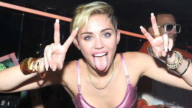 Cyrus, Miley, Trashy, bad behavior, tongue