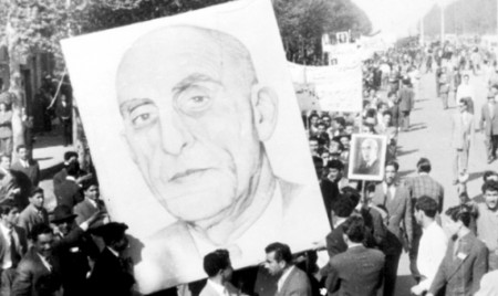 Mossadegh's face adorns posters in Iran