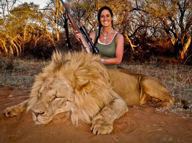 Melissa Bachman hunts a lion and takes a photo smiling that outrages the world