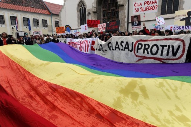 same sex marriage, croatia, protest