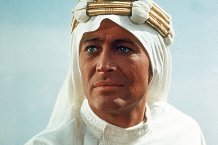 Actor Peter O'Toole as Lawrence of Arabia