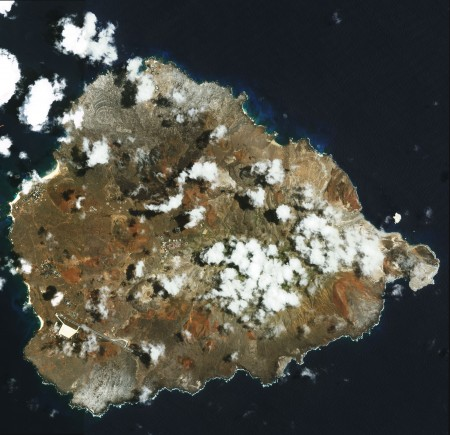 Aerial view of Ascension Island