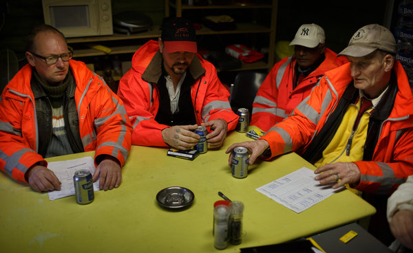 Alcoholics exchange work for beer in Amsterdam