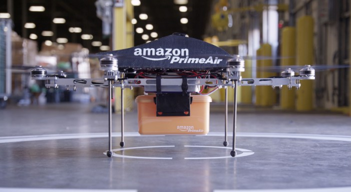 Jeff Bezos Debuts Amazon Prime Air Drones