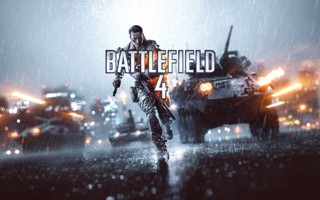 Title screen Battlefield 4 on the Xbox One and PlayStation 4