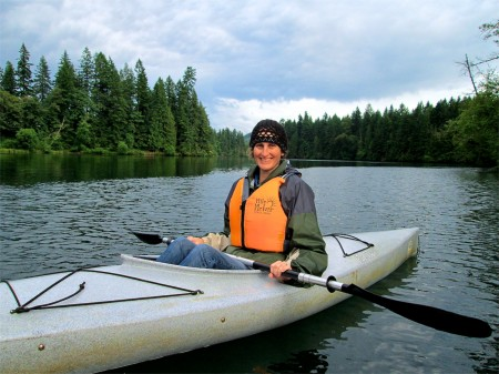 Crissa  Kayaking in Milo McIver State Park