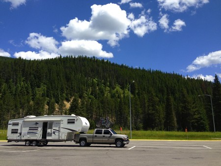 A rest stop in Montana