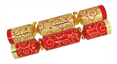 Pair of Christmas crackers