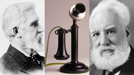 Inventors Gray and Bell Dispute Who Invented the Telephone